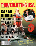 POWERLIFTING USA AUGUST 2011 ISSUE